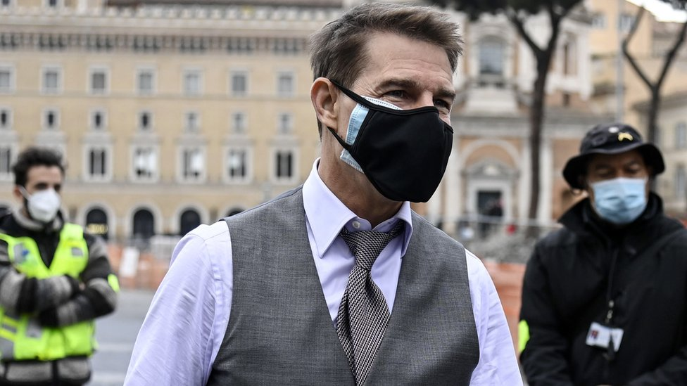 Tom Cruise filming in Rome
