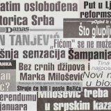 Šta su bile vesti u prvom broju Danasa 2001. godine? 12