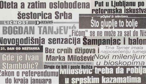 Šta su bile vesti u prvom broju Danasa 2001. godine? 4