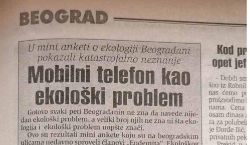 Beograđani pre 20 godina slabo prepoznavali ekološke probleme 11