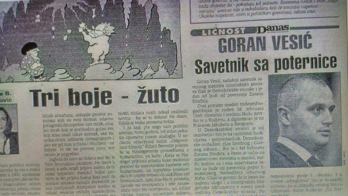 Šta je sve Goran Vesić radio za Zorana Đinđića? 4