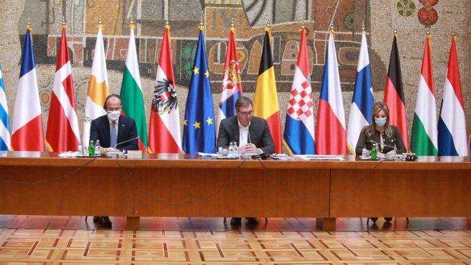 Vučić sa evropskim ambasadorima o evrointegraciji, regionu i saradnji 4