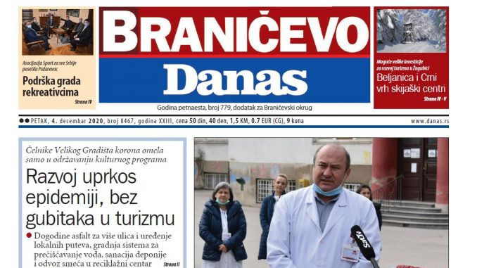 Braničevo Danas - 4. decembar 2020. (PDF) 1