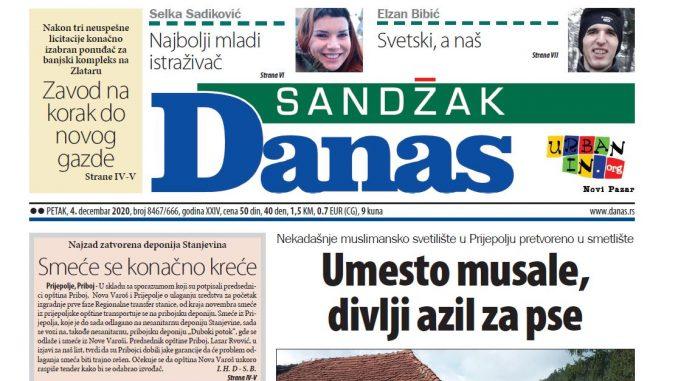Sandžak Danas - 4. decembar 2020. (PDF) 1