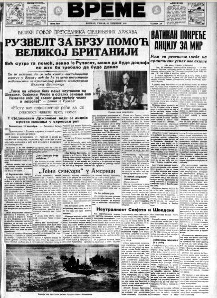 Kako je u Jugoslaviji dočekana 1941. godina? 2