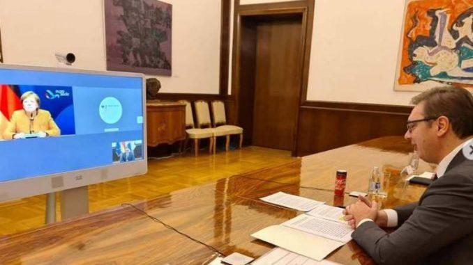 Vučić u telefonskom razgovoru sa Merkel o vakcini i razgovorima sa Prištinom 1