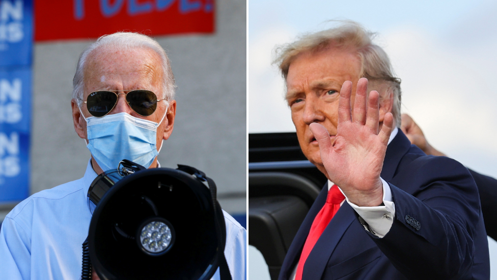 Trump and Biden composite image