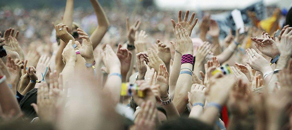 Fans at a festival
