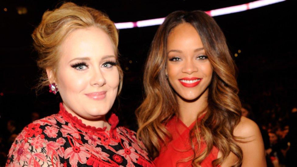 Adele and Rihanna