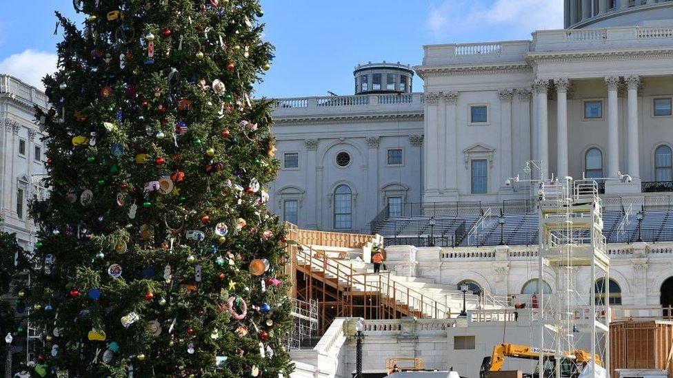 US Capitol prepares for inauguration