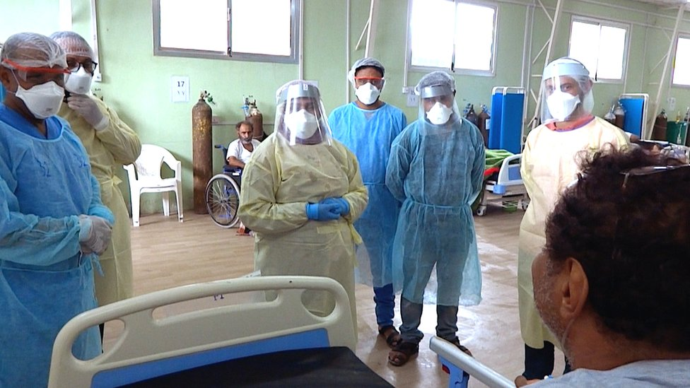 MSF arrive at Dr Zoha's hospital