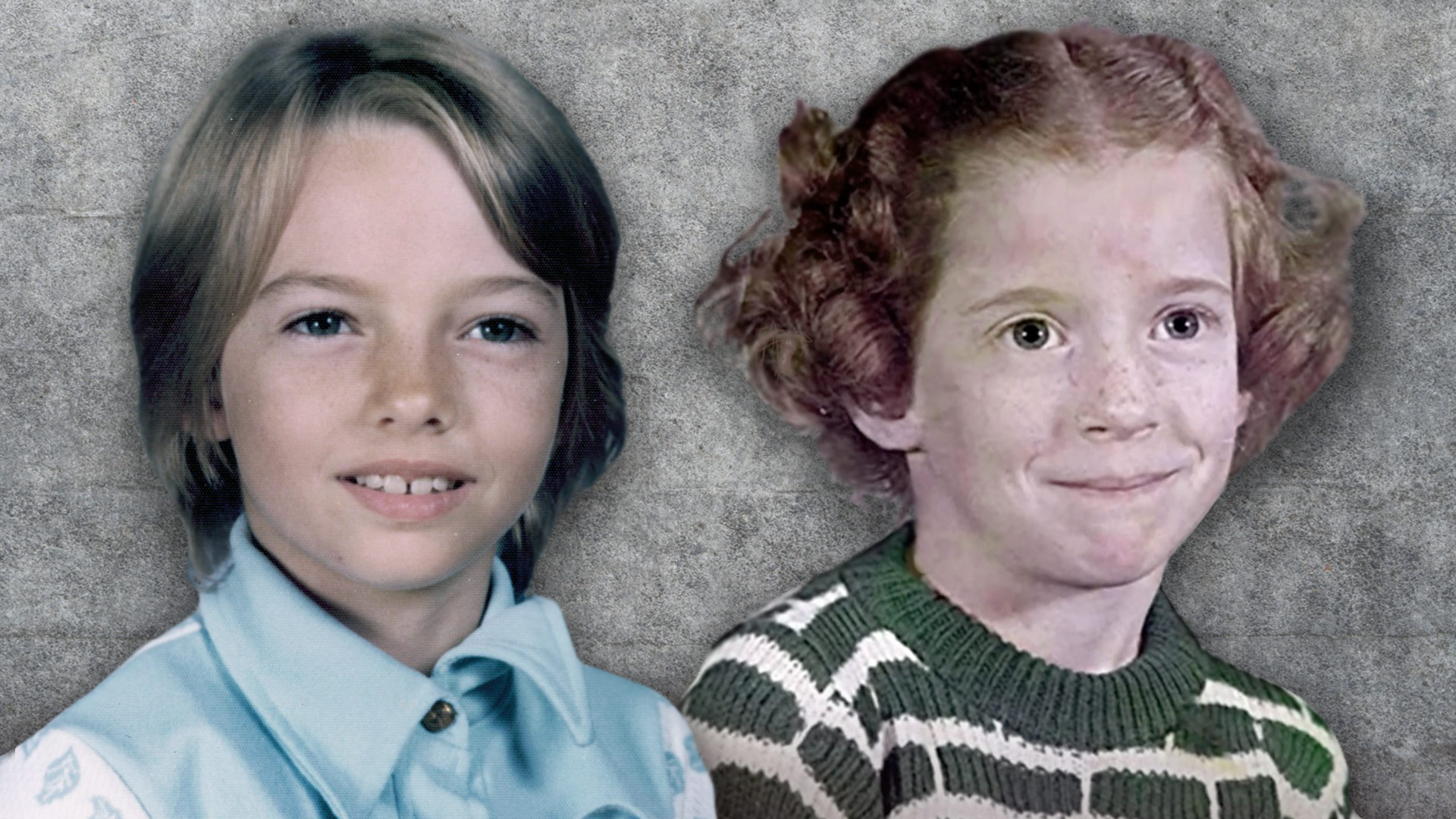 Lisa Montgomery and her half-sister Diane Mattingly as children