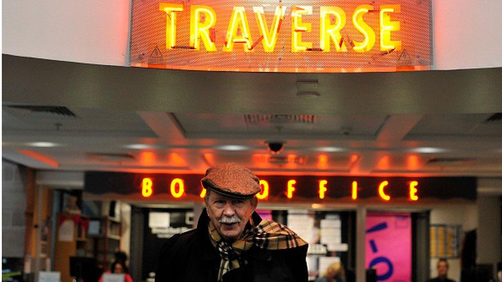 Jim Haynes at the Traverse Theatre in Edinburgh
