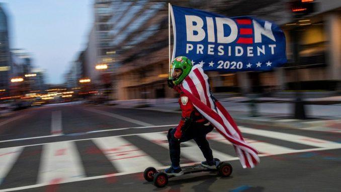 U fotografijama: Amerika na dan inauguracije Bajdena i odlaska Trampa 4