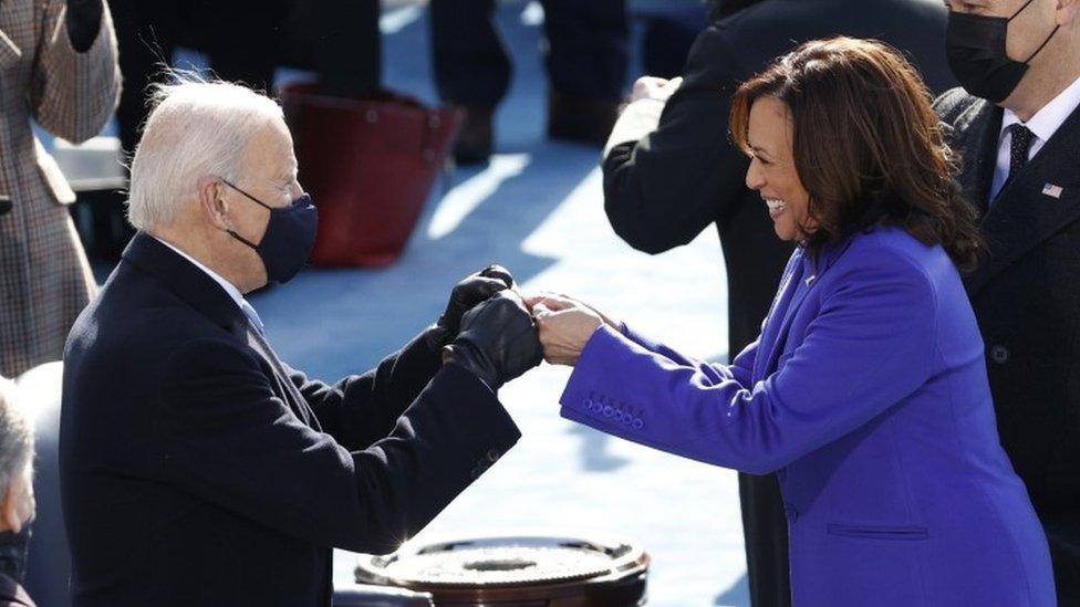Biden and Harris