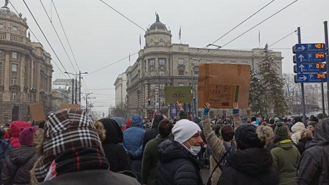 """Inicijativa: Komandir Žandarmerije učesnike protesta """"Za bezopasan vazduh"""" nazvao zlobnim ološima 2"""