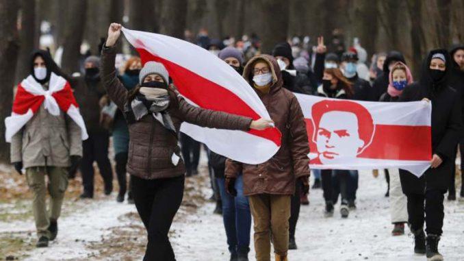 Beloruska policija uhapsila oko 100 demonstranata na prvom ovogodišnjem protestu 25
