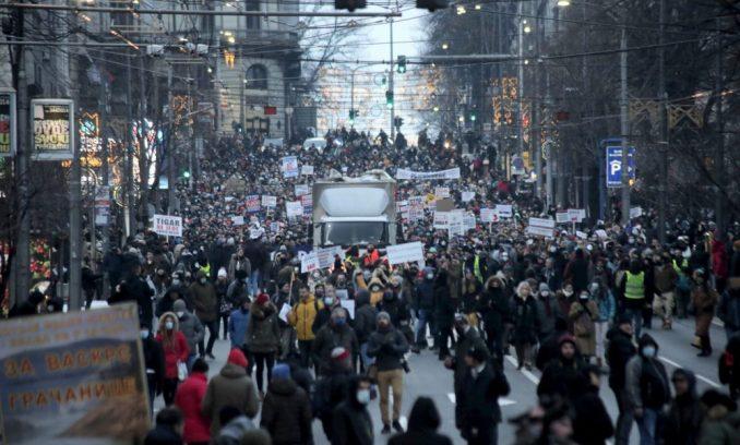 Protest frilensera u Beogradu: Porez da, pljačka ne (VIDEO) 3