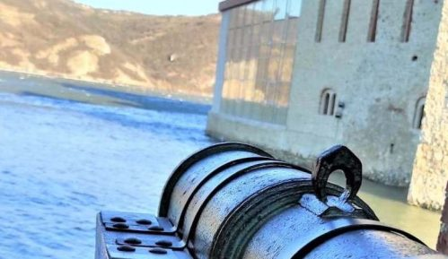 Postavljeni topovi u tvrđavi Golubački grad na Dunavu 3