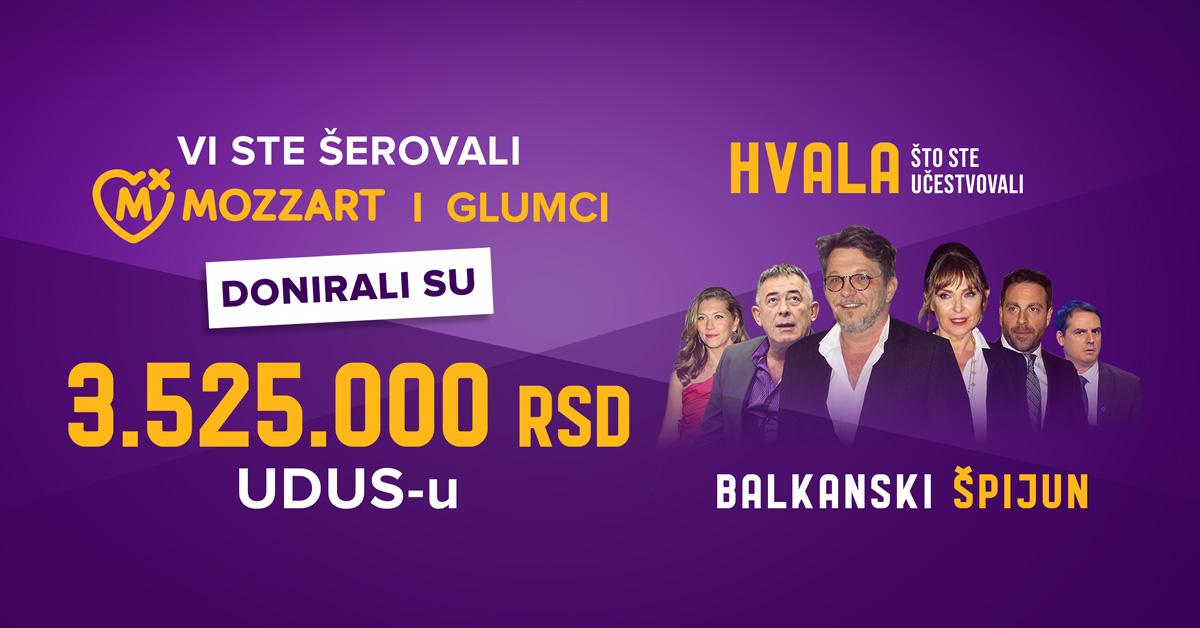 Glumci i Mozzart prikupili 3.525.000 dinara za pomoć dramskim umetnicima 2