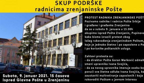 Novi protest radnika pošte u Zrenjaninu 2
