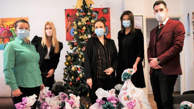 Irena Vujović i Meridian uručili paketiće za decu na Institutu za onkologiju 5