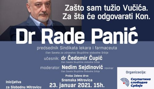 Dr Rade Panić o Vučiću i Konu na tribini 23. januara 1