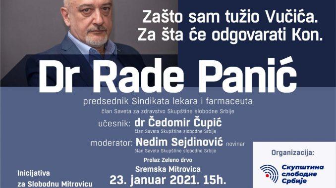 Dr Rade Panić o Vučiću i Konu na tribini 23. januara 4