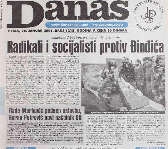 Dvadeset godina od formiranja vlade Zorana Đinđića (VIDEO) 2