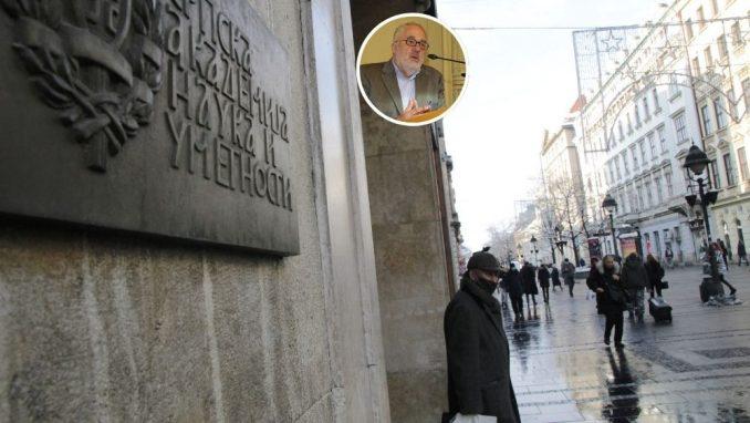Protest ispred SANU: Akademici da reaguju zbog izjave Kostića o Kosovu 5