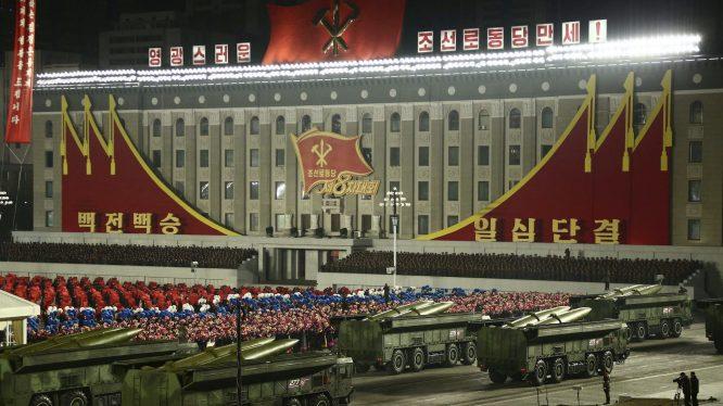 Vojna parada za kraj kongresa Radničke partije Severne Koreje (FOTO) 4