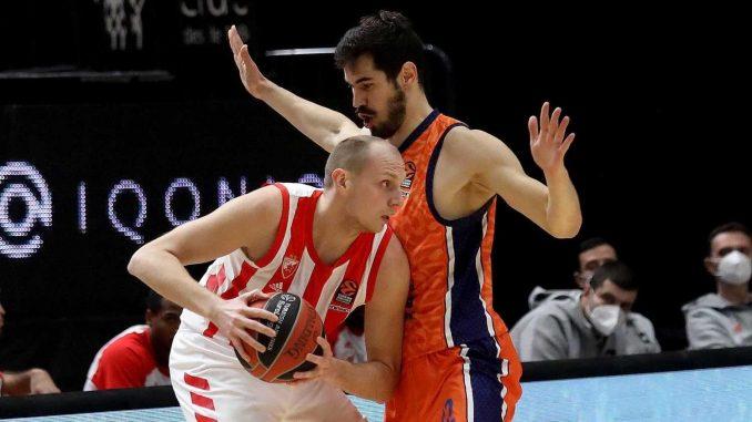 Košarkaši Zvezde izgubili od Valensije 4