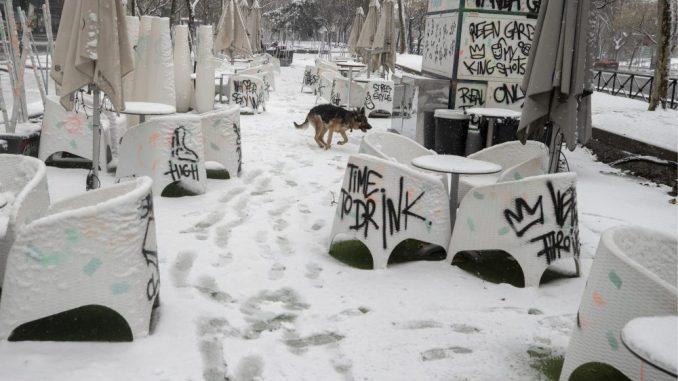 Mećava izazvala haos u Španiji, danas se očekuje još snega 4