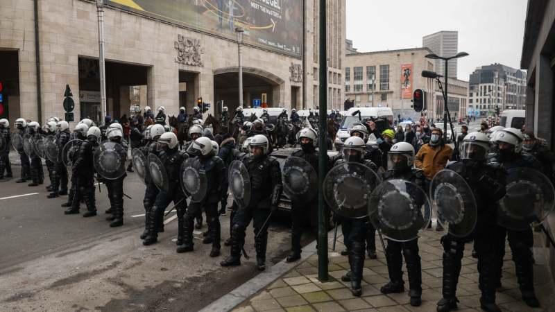 Briselska policija uhapsila 300 demonstranata protiv oštrih mera 1