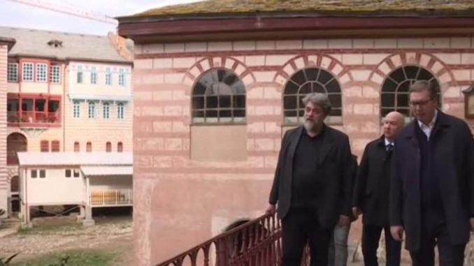 Popović: Vučić obećao monasima da će obnova Hilandara biti završena za dve godine 4
