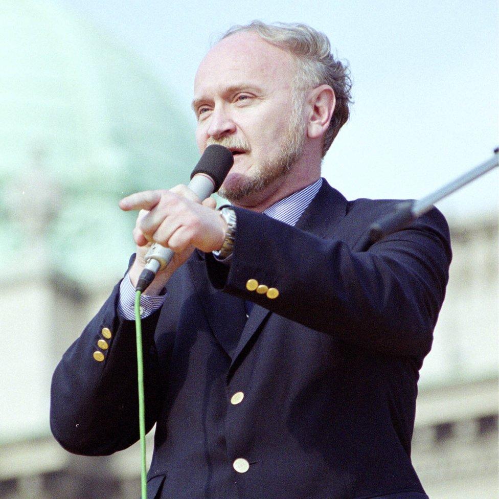 Korać na mitingu, 6. oktobar 2000. godine, Beograd