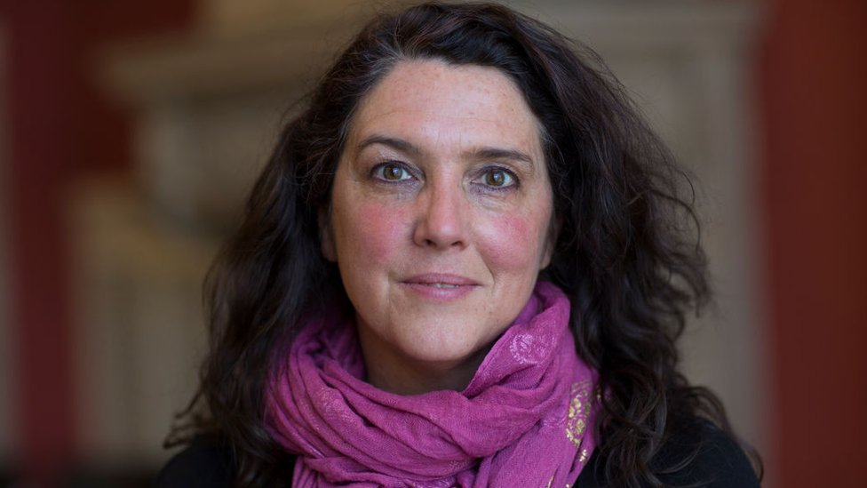 Close up of Bettany Hughes