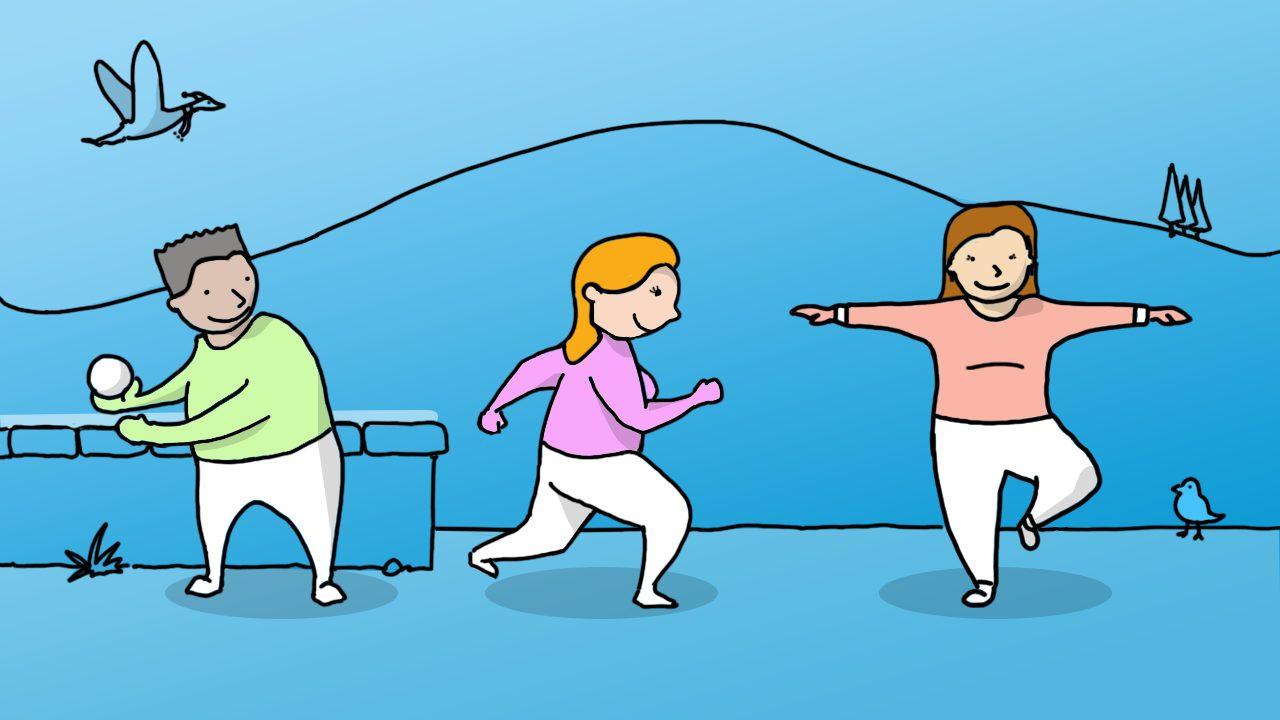 Illustration of get moving