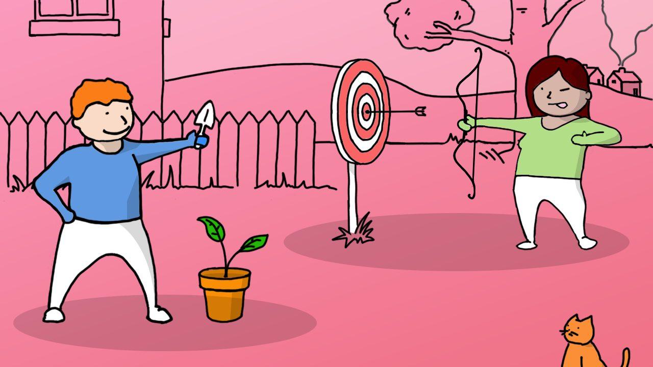 Illustration of set a new target