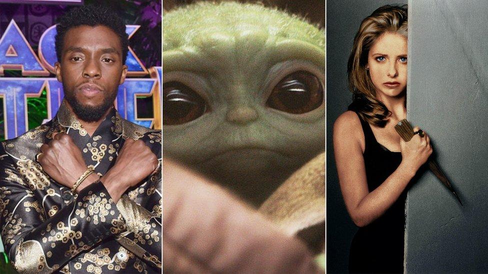 Chadwick Boseman, Yoda and Sarah Michelle Gellar