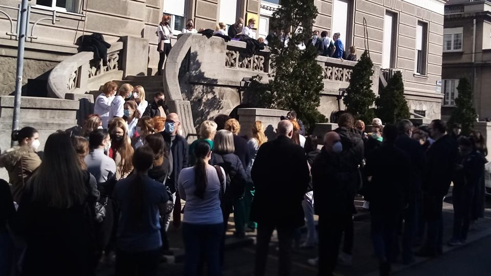 Protest studenata: Studentska poliklinika mora postojati (VIDEO) 1