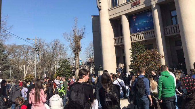 Studenti Pravnog opet protestovali (VIDEO) 1
