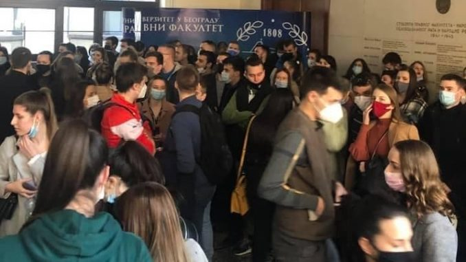 Protest studenata Pravnog fakulteta (VIDEO) 5