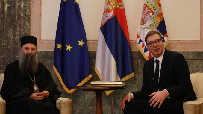 """Predsednik Srbije i patrijarh SPC razgovarali o """"ključnim pitanjima za državu i crkvu"""" 3"""