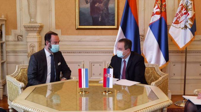 Ivica Dačić primio u oproštajnu posetu ambasadora Holandije u Srbiji 1