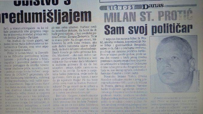 Milan St. Protić štrčao i pre 20 godina 1