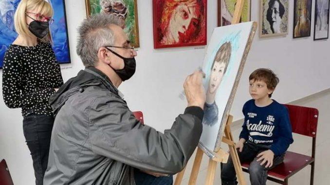 """Održana likovna radionica """"Umetnik i učenik – Korak po korak"""" 1"""