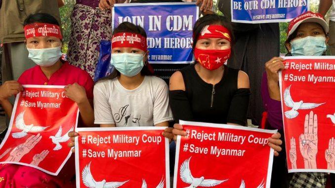 Novi protesti u Mjanmaru 4