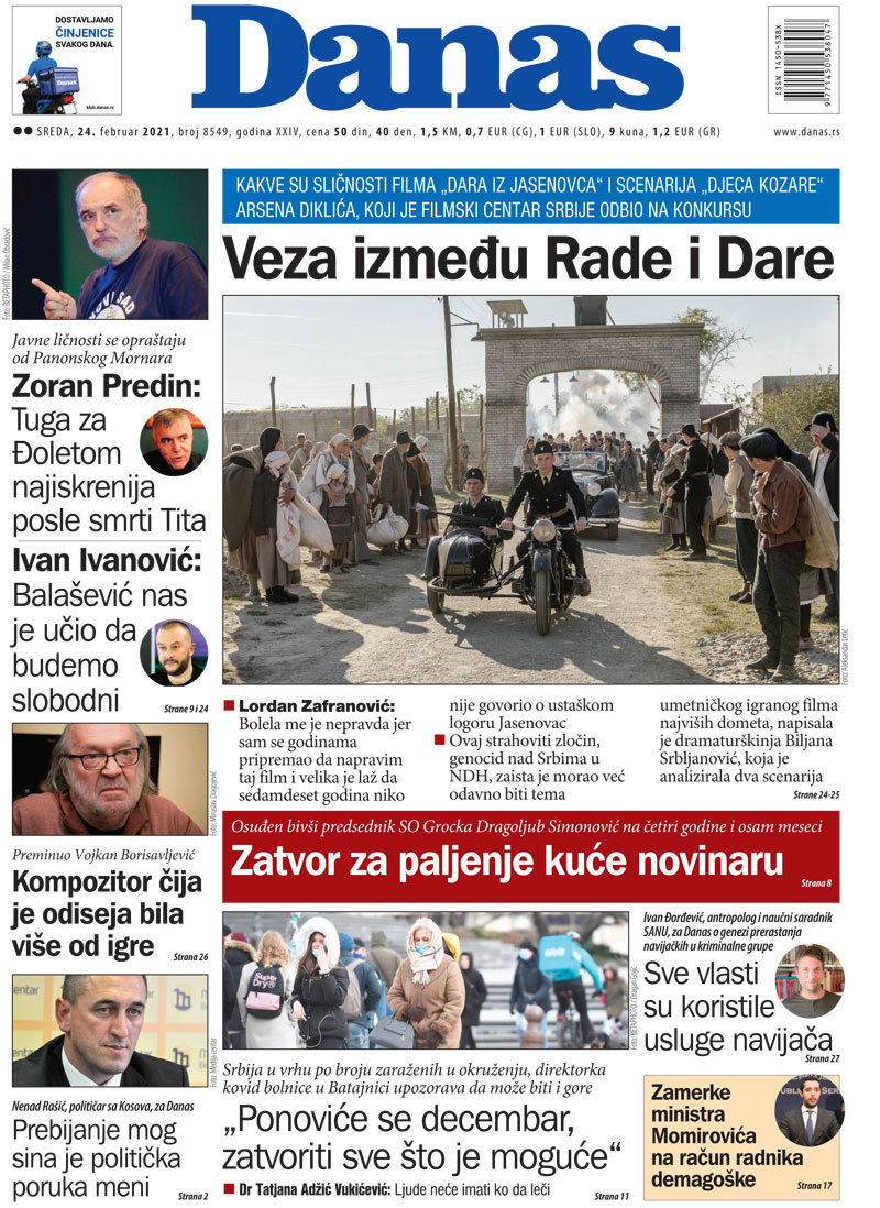 Naslovna za 24. februar 2021. 1