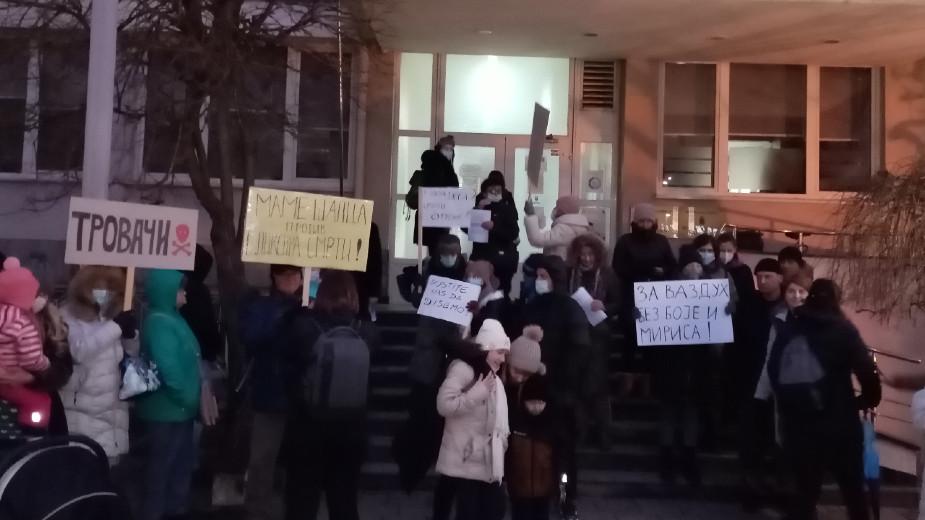 Protest Šapčanki protiv zagađenja vazduha 1
